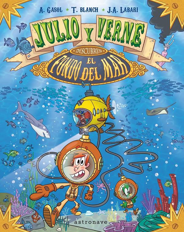 Julio y Verne descubren el fondo del mar